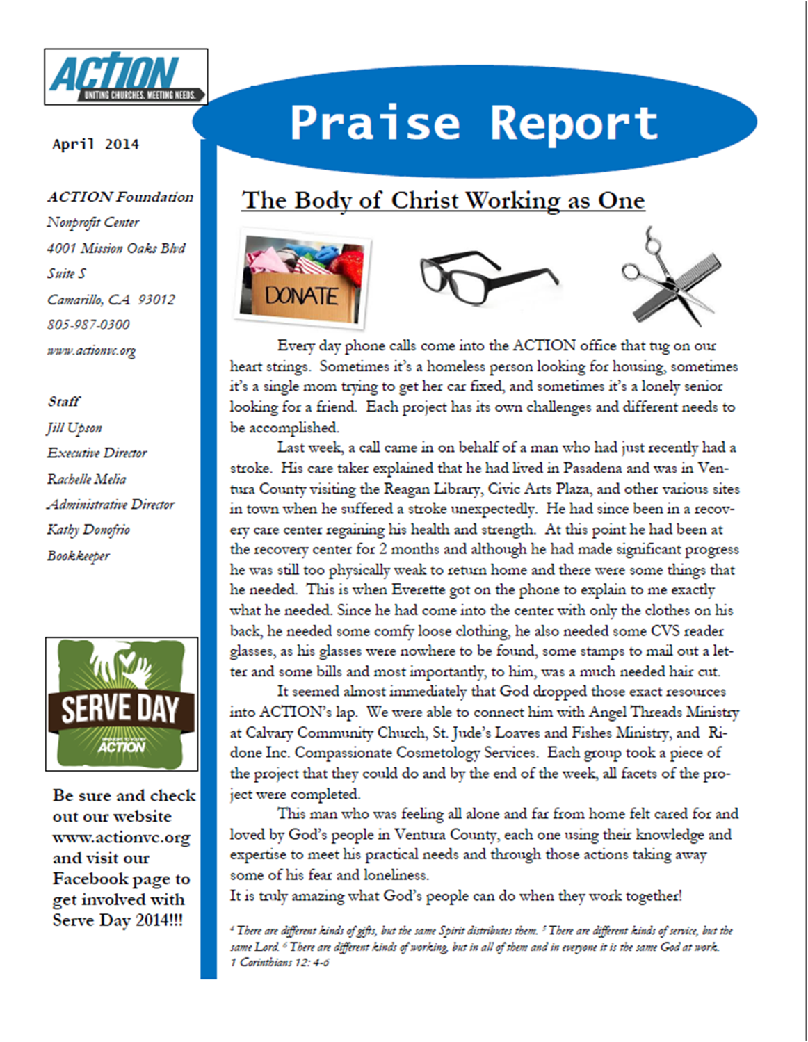 April Praise Report