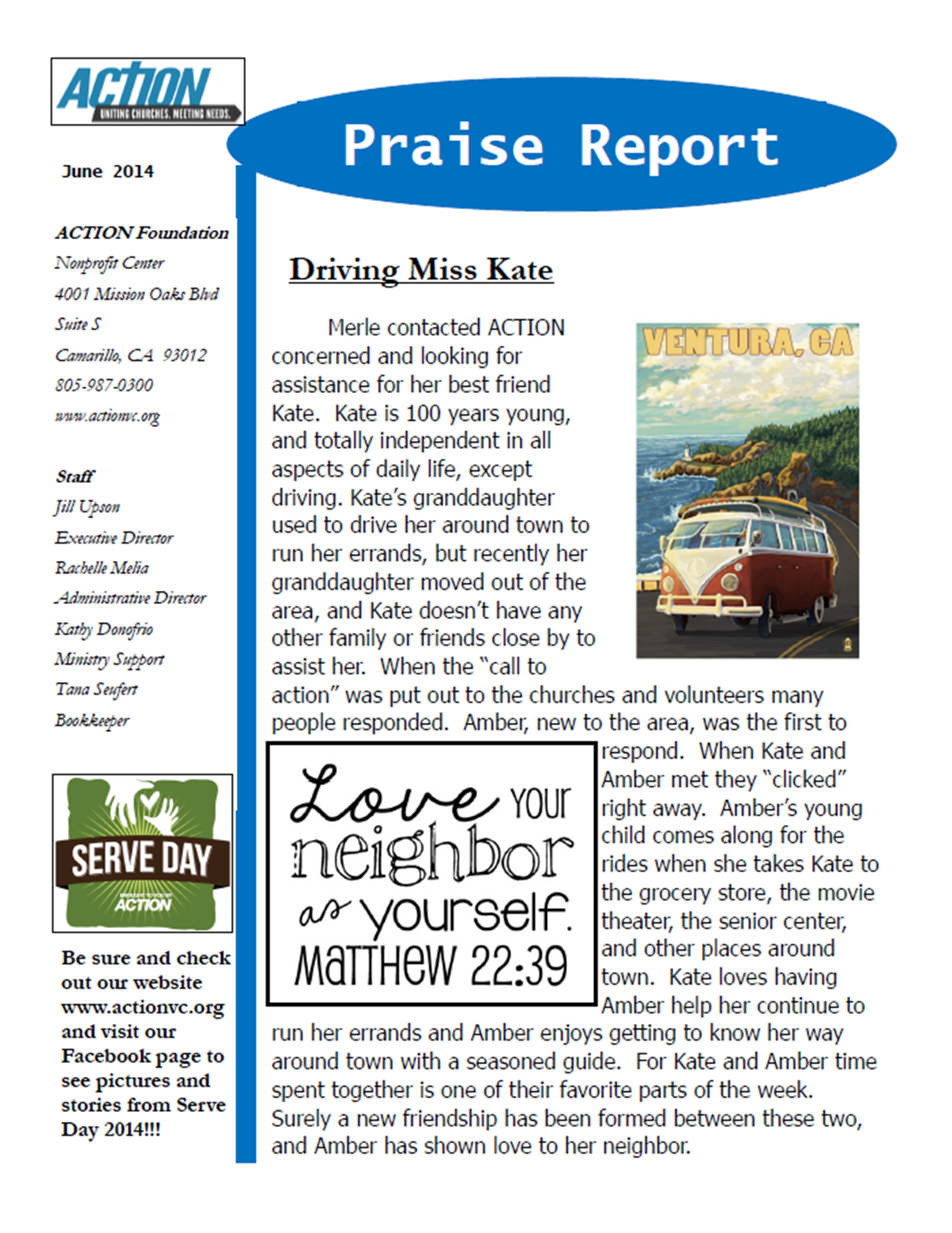 June 2014 Praise Report