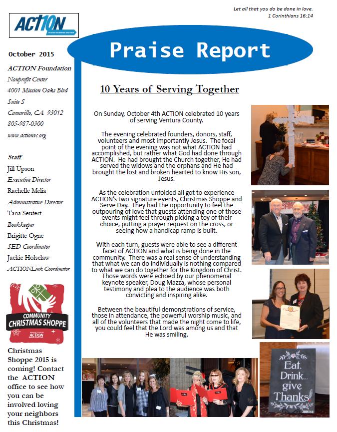 Praise Report October 2015